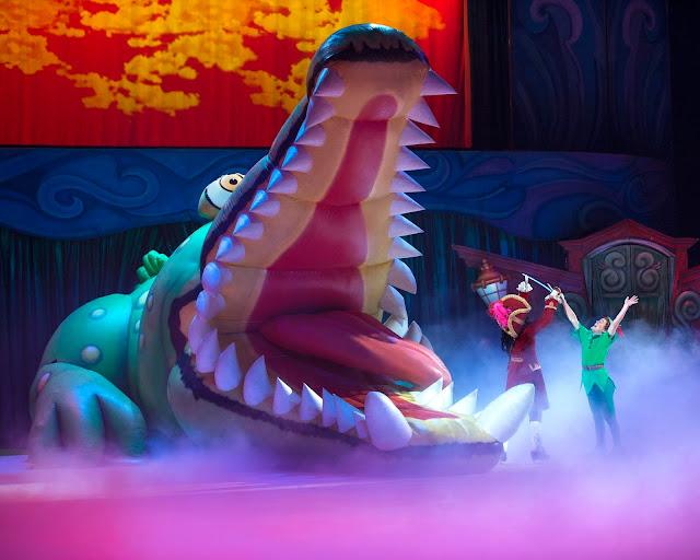 Peter Pan and Captain Hook Crocodile