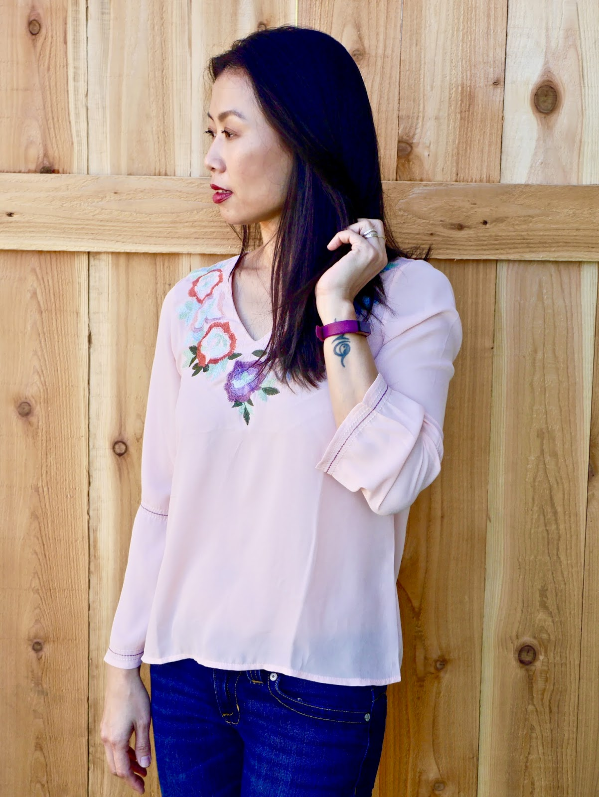 fashion, Zaful, online shopping, floral, embroidery, bell sleeves, blouse