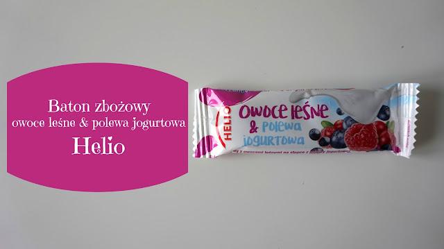 RECENZJA: Baton zbożowy Owoce leśne & Polewa jogurtowa | Helio