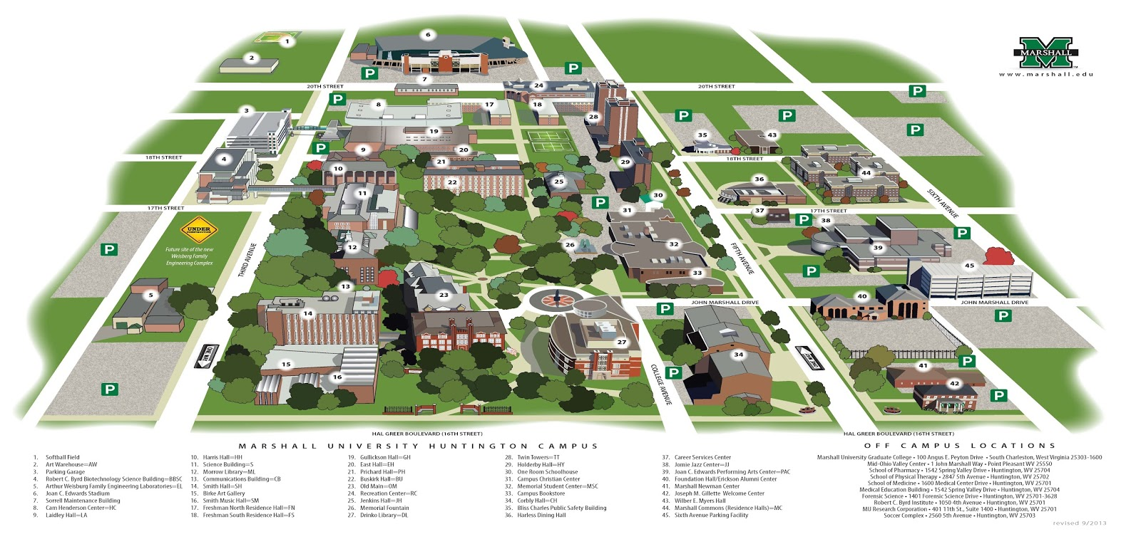 Husson University Campus Map.Marshall University Campus Map Park Ideas