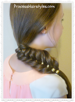 Fancy fishtail braid with beads, video tutorial.  Easy.