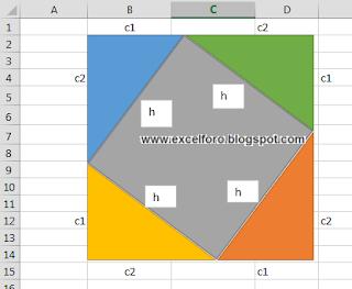 Las Autofomas en Excel y el Teorema de Pitágoras