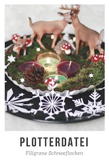 Nichts ist winterlicher als filigrane Eisblumen! Schneide diese hübschen Schneeflocken mit deinem Plotter aus Papier oder Folie. Die Plotterdateien sind sowohl für die Textilveredelung als auch zum herstellen von Papierdekoration geeignet!