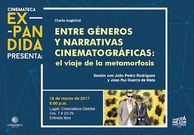 Charla magistral en la Cinemateca: Entre géneros y narrativas cinematográficas