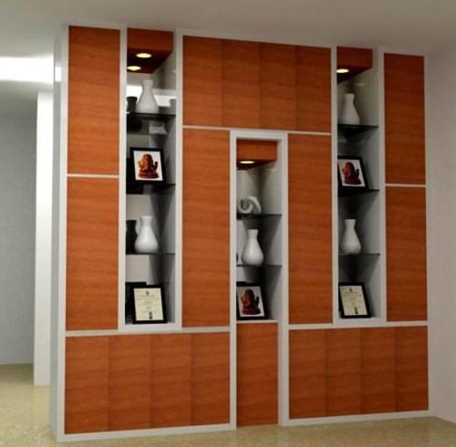 Model lemari pajangan minimalis berbahan kayu