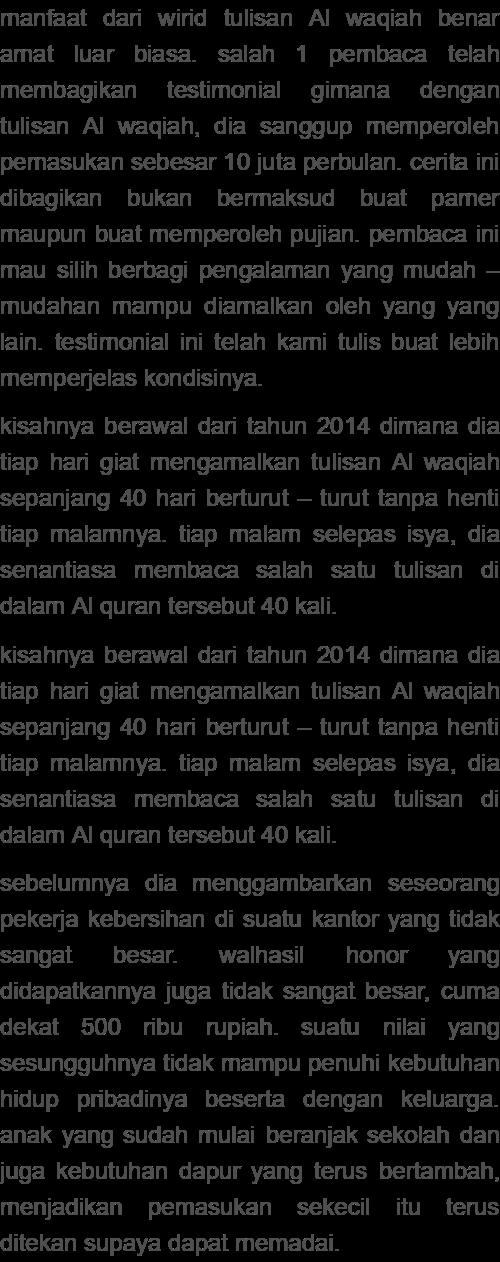 Kisah Nyata Pengamal Surat Al Waqiah : kisah, nyata, pengamal, surat, waqiah, Usamah, Waqiah
