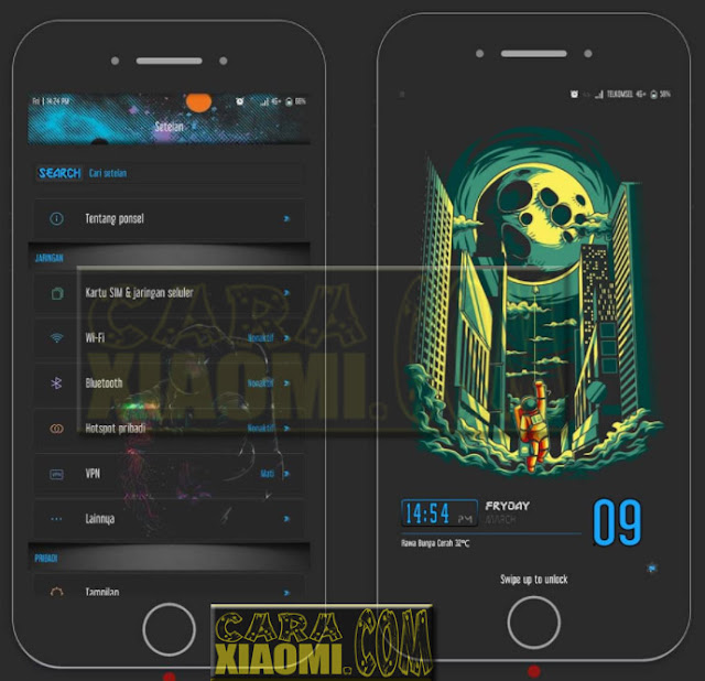Update Theme MIUIV8 / MIUIV9 Tema Outs Space Mtz For Xiaomi Redmi by Nara Presley