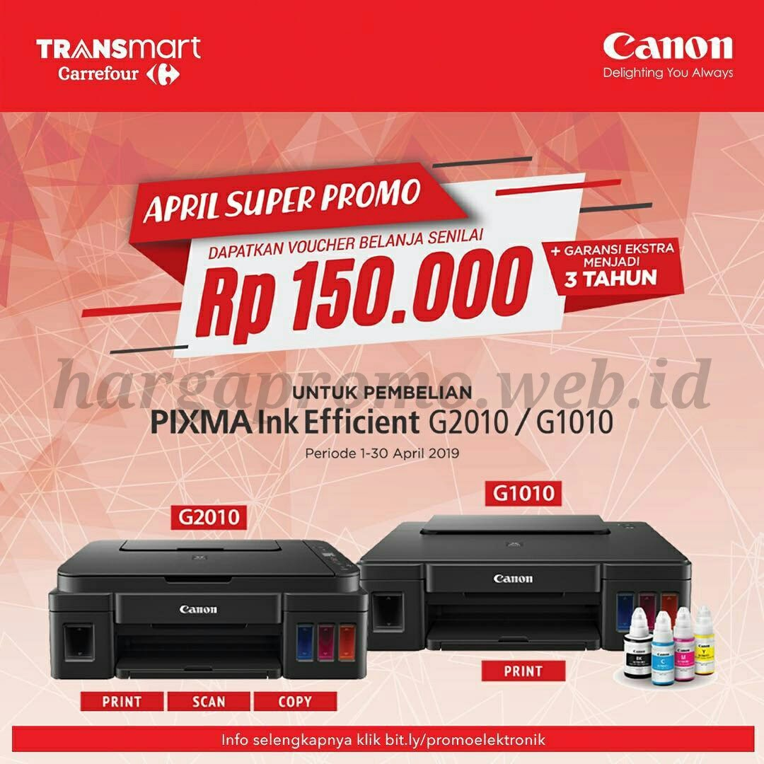 Promo Printer Canon di Transmart Carrefour April 2019