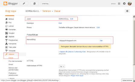 Mengganti URL blog