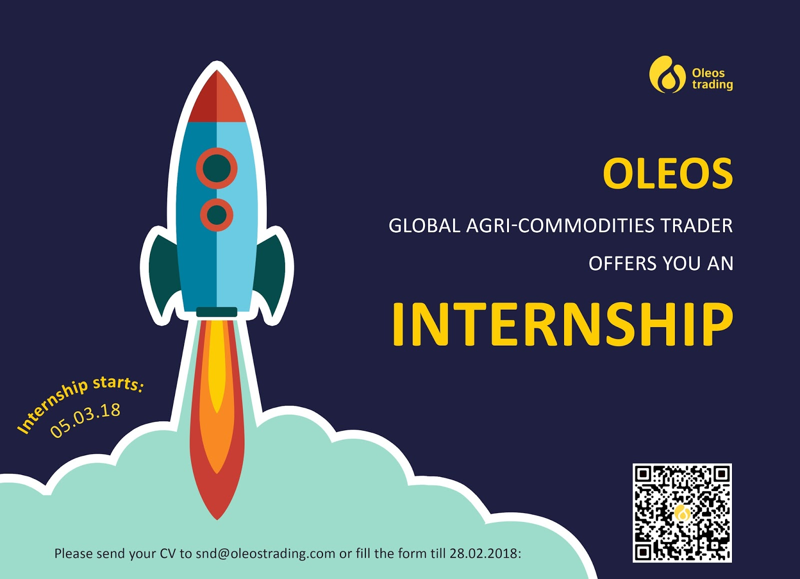 OLEOS TRADING offers you an INTERNSHIP.