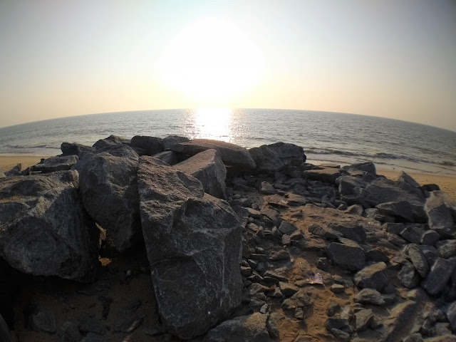 Beach, Rocks, Maravantha