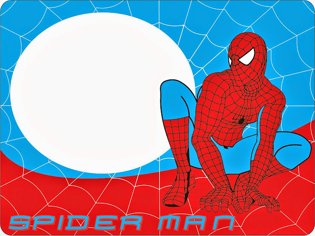 Para hacer Invitaaciones, Marco de Fotos o Tarjetas para Imprimir Gratis de Spiderman.