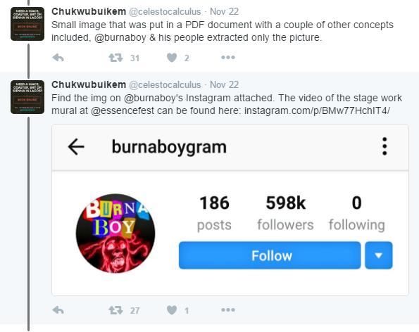 "Image result for ""Burna Boy, Your Fada!"" – Nigerian Guys Slams Burna Boy For Stealing His Art Work"