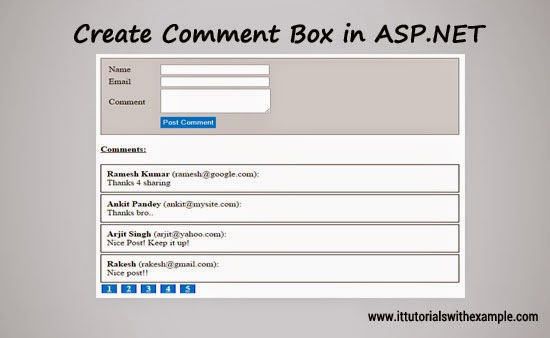 Create Simple Comment Box In Asp Net It Tutorials With