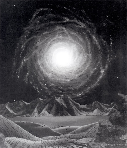 Chesley Bonestell Space Art (The Milky Way Galaxy, by Chesley Bonestell)