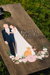 caricature/character wedding guest book