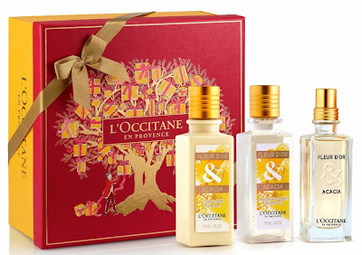 L'Occitane Christmas Collection, Un Noel a Grasse, L'Occitane, skincare, Fleur d'Or & Acacia, Cèdre & Oranger, bodycare