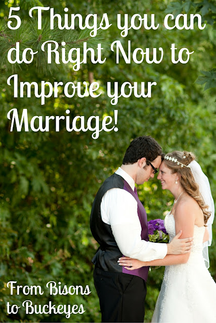 Using these five simple tips you can improve your marriage right now to grow closer with your spouse.
