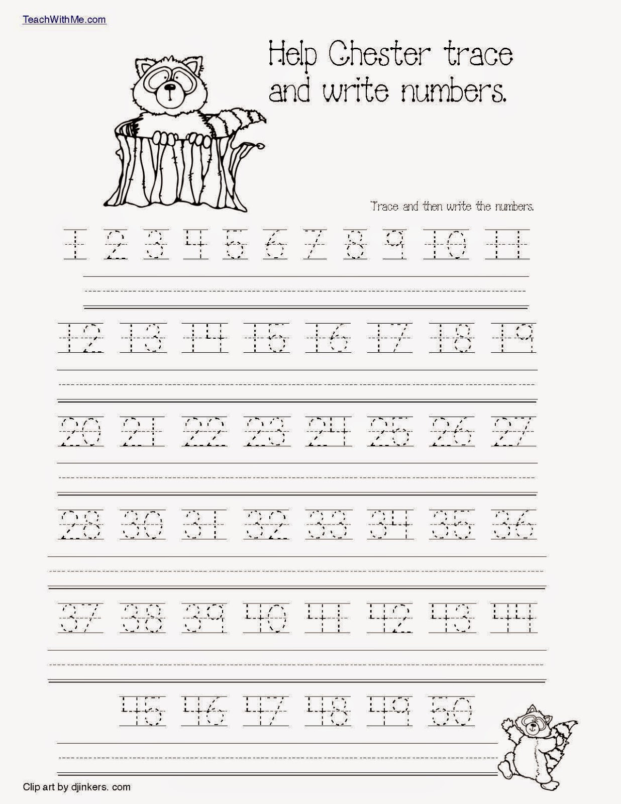 Classroom Freebies The Kissing Hand Number Packet