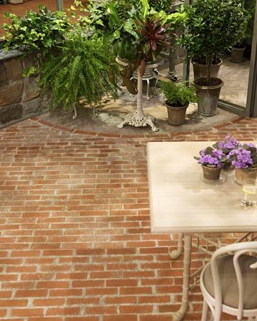 The French Tangerine Brick Flooring