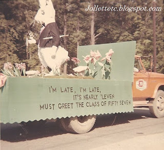 Homecoming 1967 Art Club Float http://jollettetc.blogspot.com