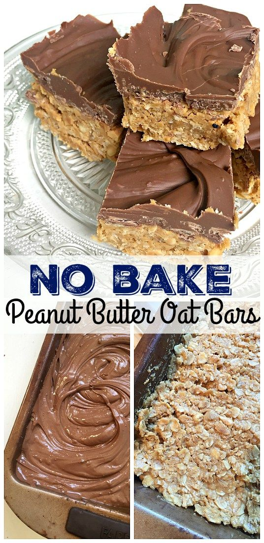 NO BAKE PEANUT BUTTER OAT BARS