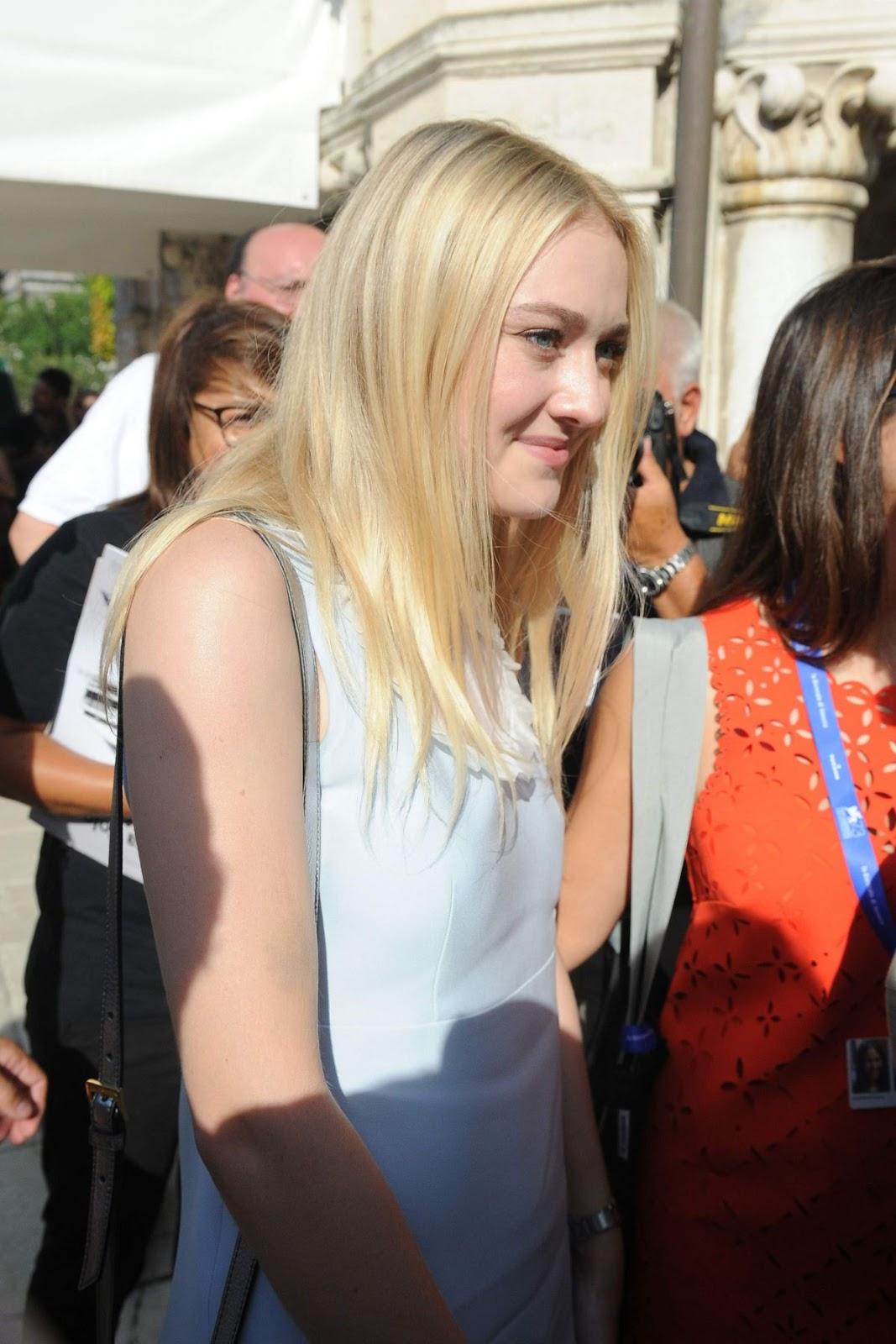 HQ Photos of Dakota Fanning Leaves Hotel Excelsior Venice Film Festival, In Venice