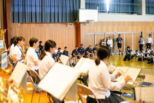 Los Pumas visitaron un colegio de Osaka #RWC2019