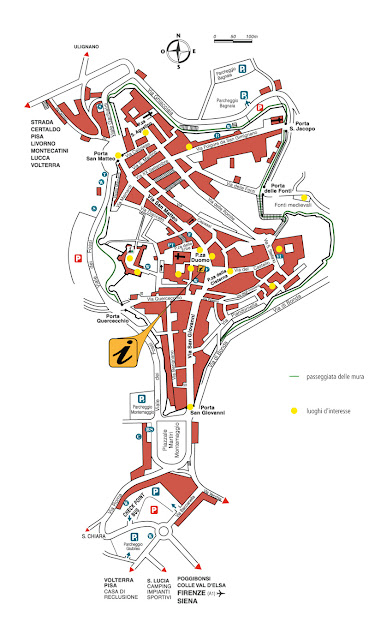 Map of San Gimignano