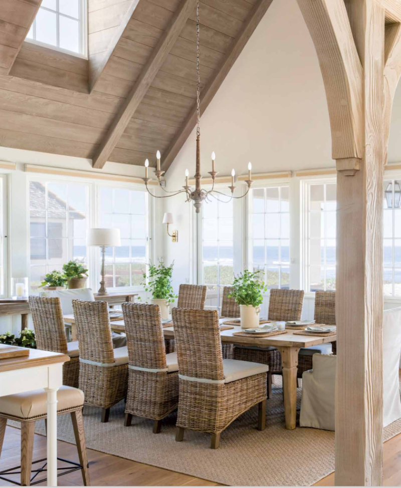 Breathtaking French Country modern farmhouse dining area by Giannetti Home - found on Hello Lovely Studio