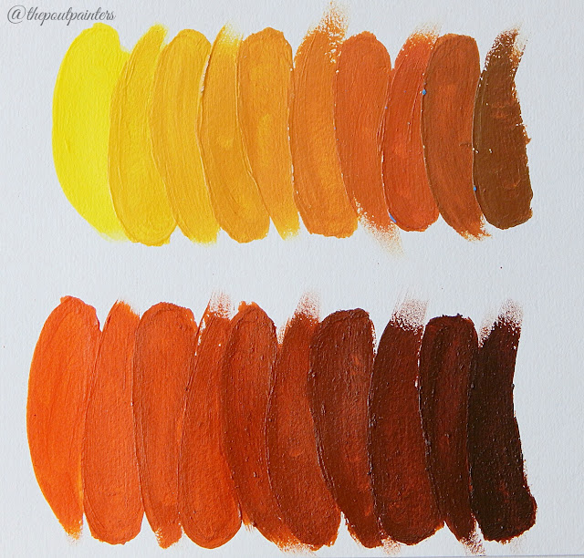 Neutralisation Yellow and Orange Betty Edwards Colour Theory