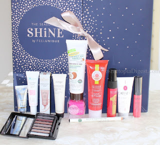nboxing and review of the Feelunique The Season To Shine Beauty Advent Calendar for Holiday 2017.