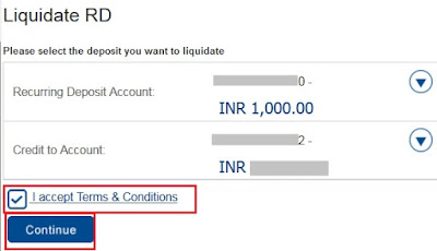 Close or Cancel HDFC Online RD Account