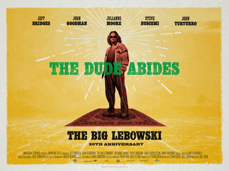 THE BIG LEBOWSKI's 20th Anniversary poster