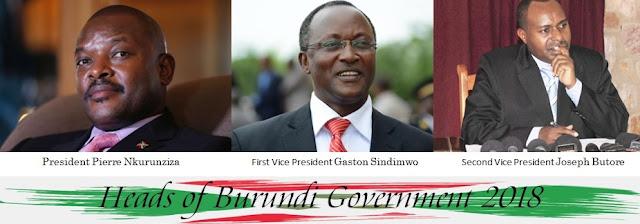 Heads of Burundi Government 2018
