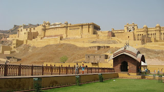 Amber Fort structures seen from distance