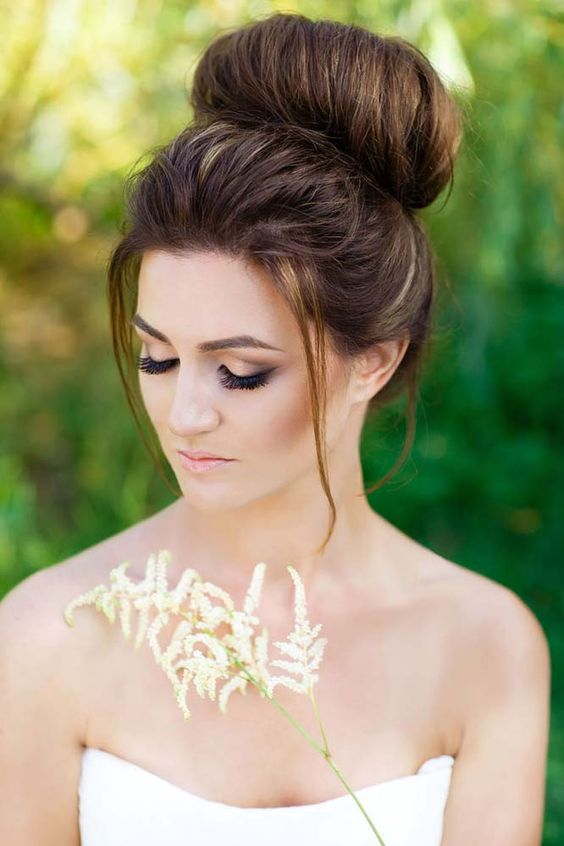 Peinados de novia medio moгІЇ
