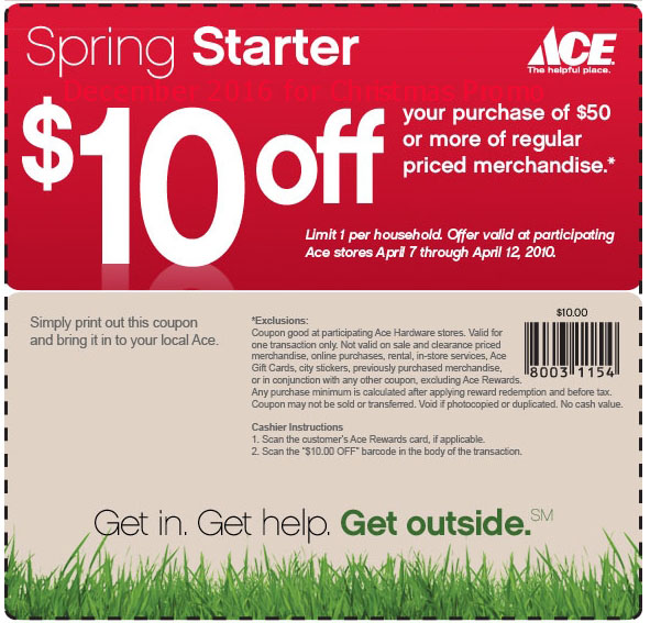 Ace hardware coupons may 2018