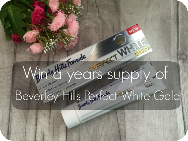 win a years supply of beverly hills perfect white gold toothpaste