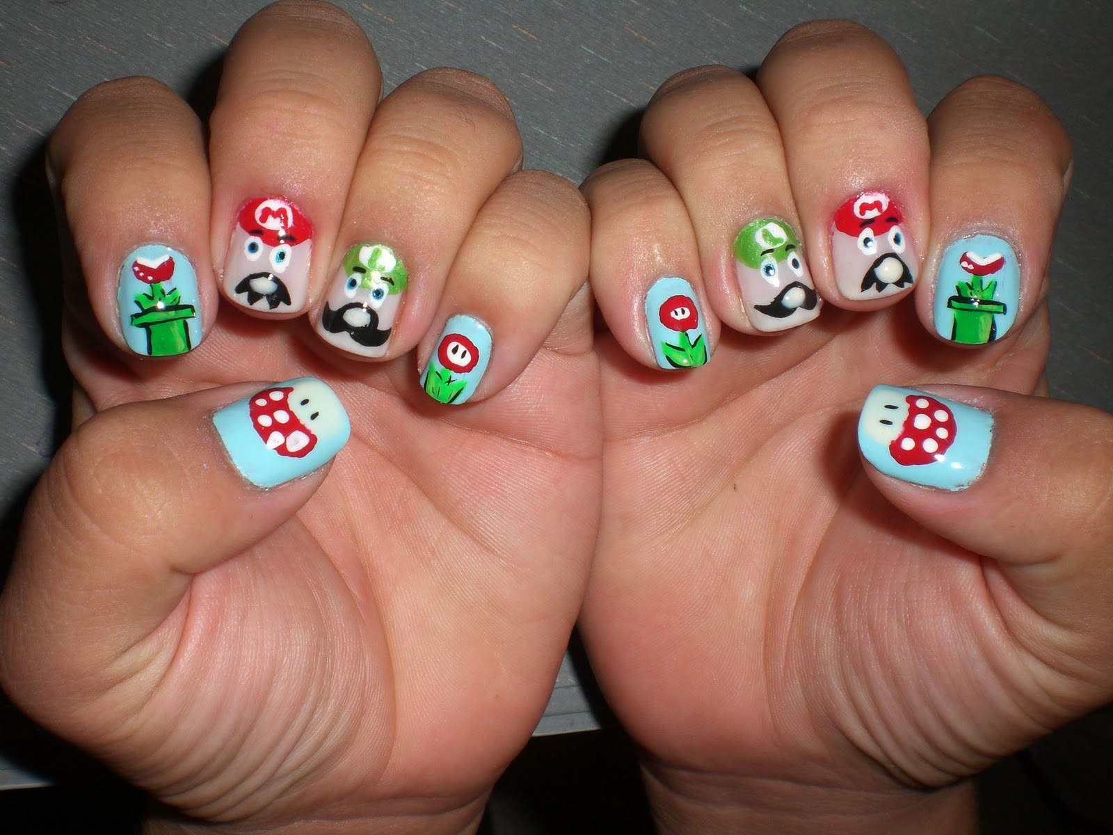 Oh Me Oh My Super Mario Nails