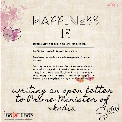 Happiness is writing an open letter to Prime Minister of India!