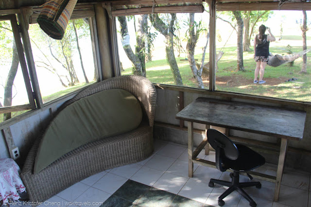 Interior of the work/study/play area in Lumot Lake