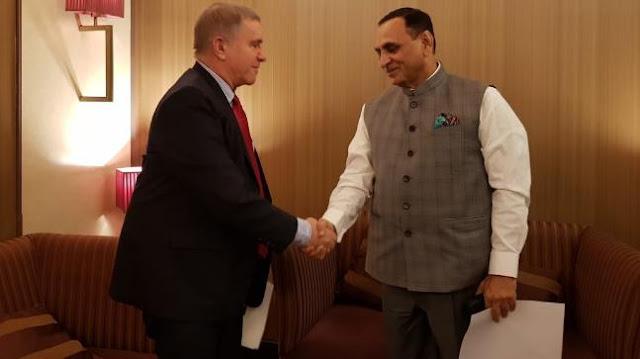 Gujarat CM Vijay Rupani arrives in Israel on 6-day visit