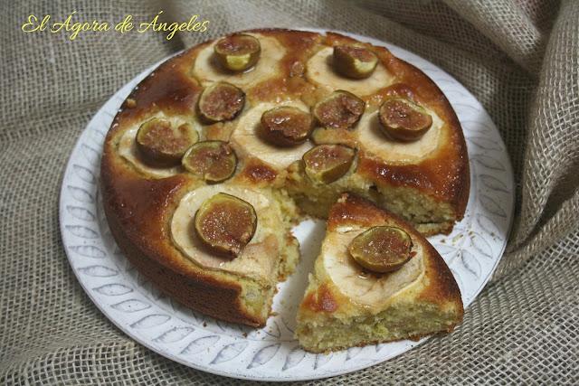 Tarta de higos,tarta de manzana, tarta otoñal