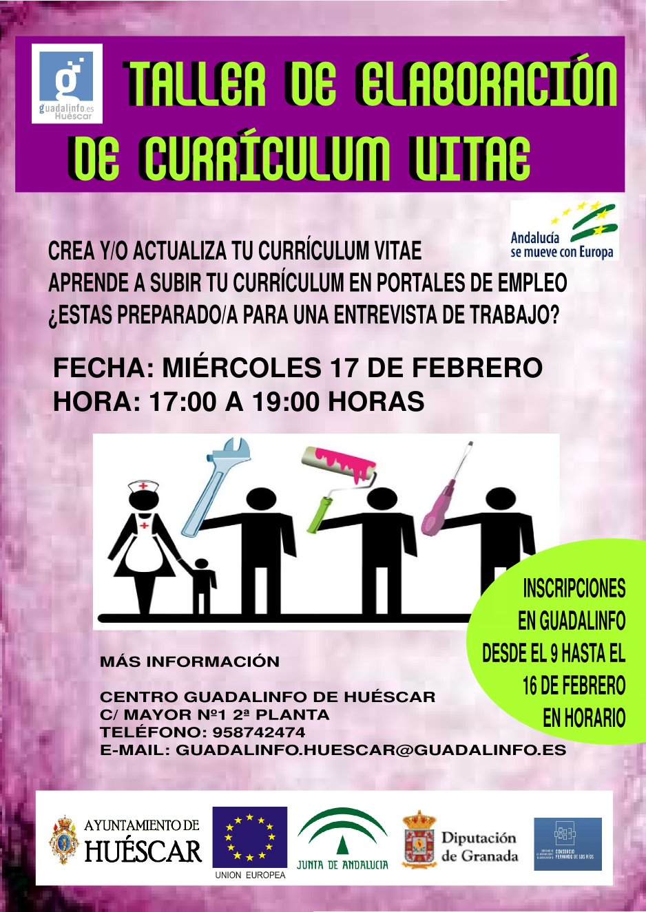 CENTRO GUADALINFO DE HUESCAR: 02/01/2016 - 03/01/2016