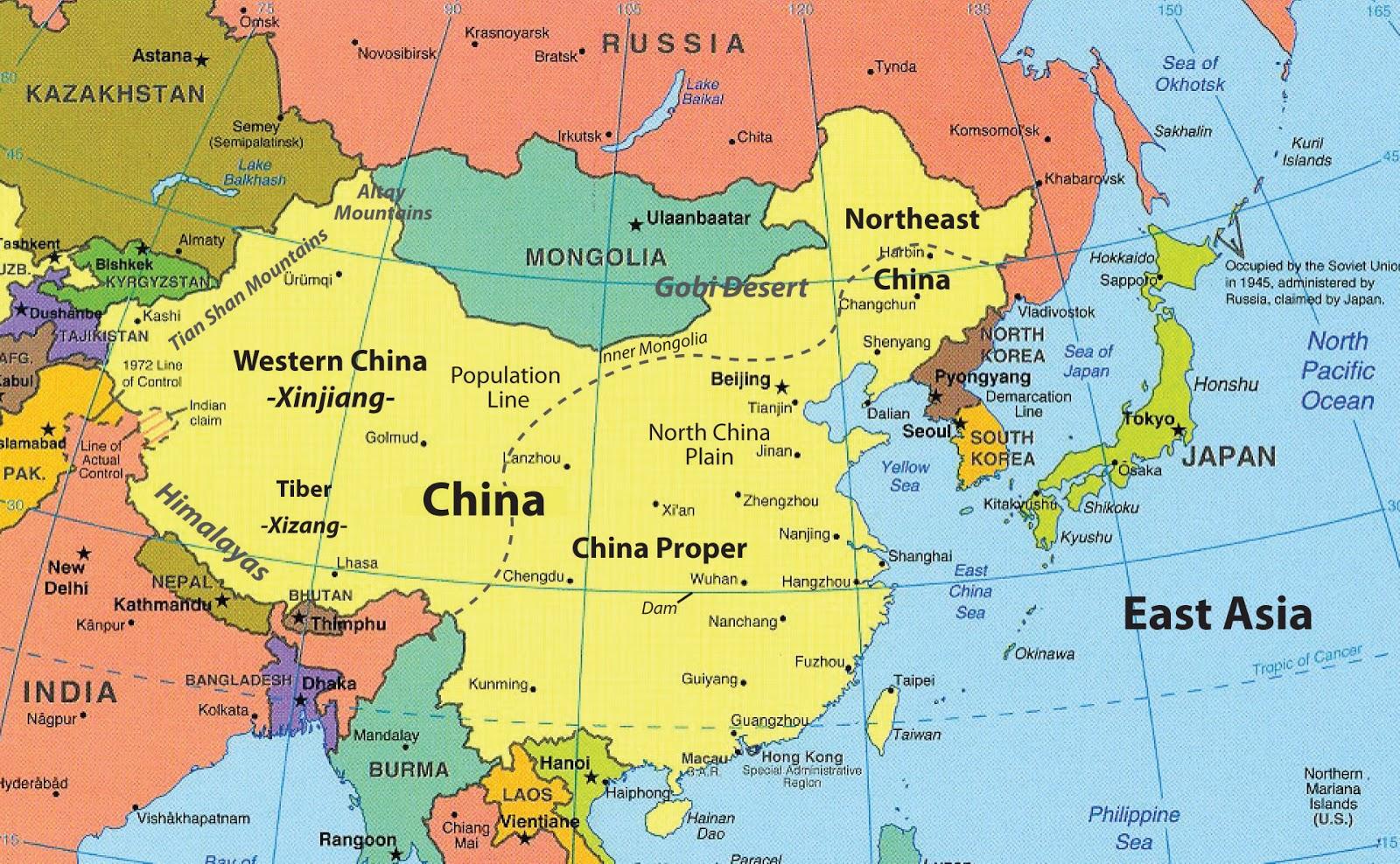 Map Of Asia Korean Peninsula.Korean Peninsula Asia Map
