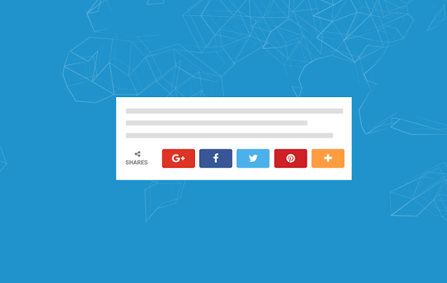 Cara Membuat Tombol Social Share Button Keren di Blog