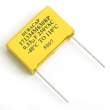 Electrical Capacitors Metalized Polyester Film Capacitors