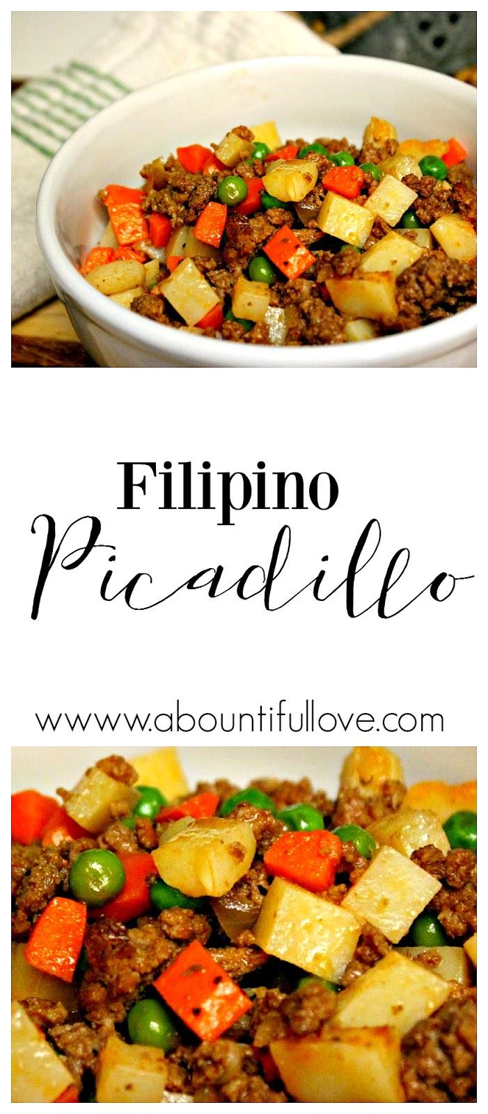 A Bountiful Love: Filipino Picadillo