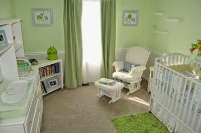 dormitorio para bebé verde